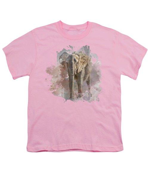 African Elephant - Transparent Youth T-Shirt by Nikolyn McDonald