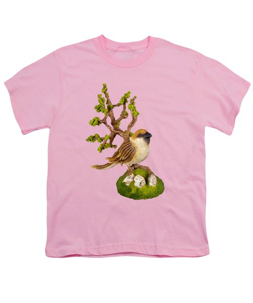 Arborescent Sparrow Youth T-Shirt by Przemyslaw Stanuch