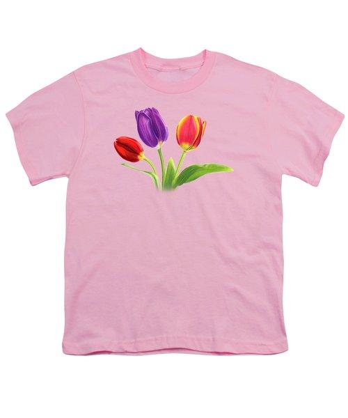 Tulip Trio Youth T-Shirt by Sarah Batalka