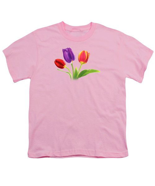Tulip Trio Youth T-Shirt by Sarah Batalka