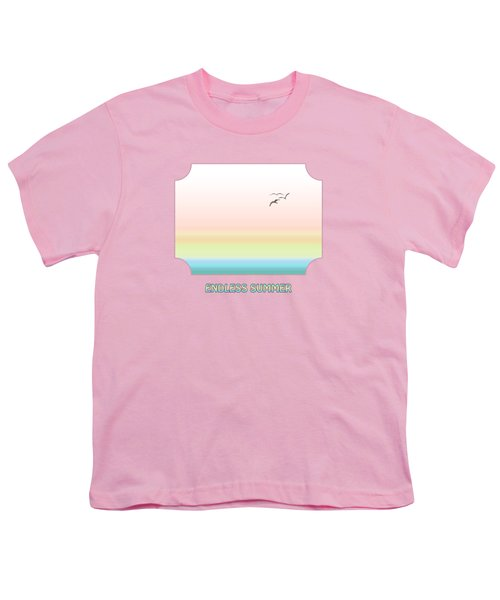 Endless Summer - Pink Youth T-Shirt by Gill Billington