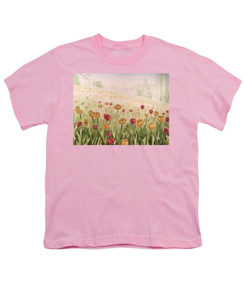 Field Of Tulips Youth T-Shirt by Kayla Jimenez