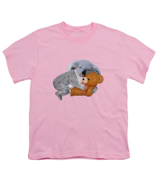 Naptime With Teddy Bear Youth T-Shirt by Glenn Holbrook