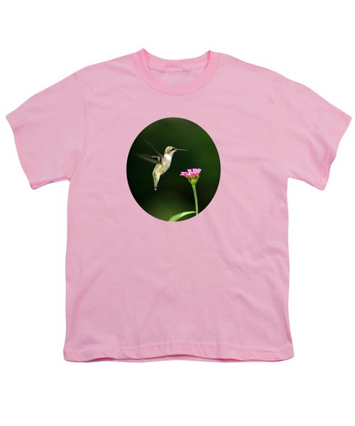 One Hummingbird Youth T-Shirt by Christina Rollo