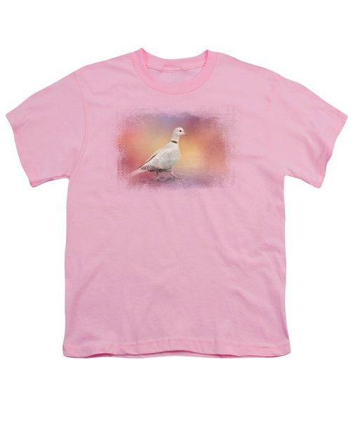 Spring Eurasian Collared Dove Youth T-Shirt by Jai Johnson