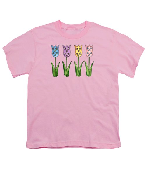 Tulip Row Youth T-Shirt by Shelley Wallace Ylst