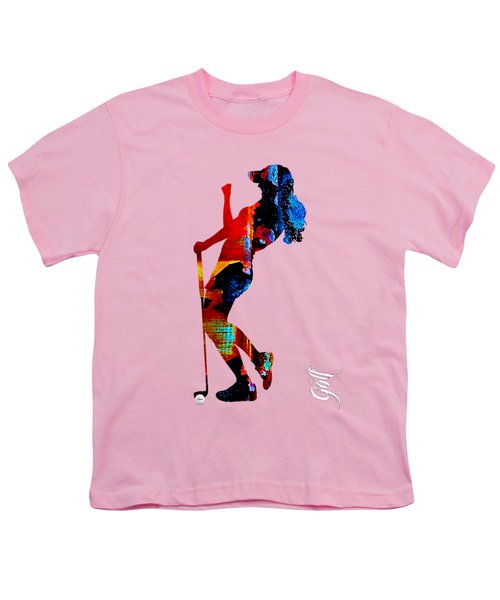 Womens Golf Collection Youth T-Shirt by Marvin Blaine