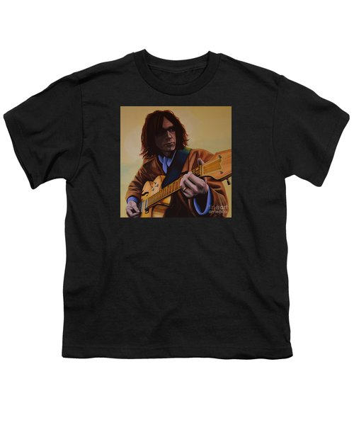 Neil Young Painting Youth T-Shirt by Paul Meijering
