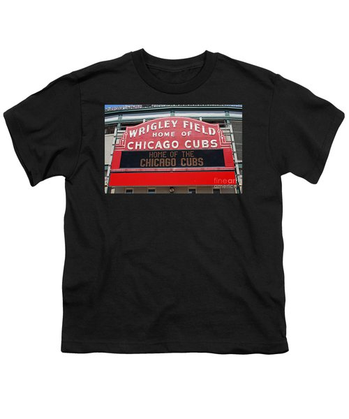 0334 Wrigley Field Youth T-Shirt by Steve Sturgill