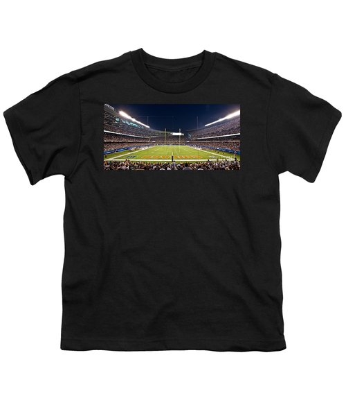 0587 Soldier Field Chicago Youth T-Shirt by Steve Sturgill