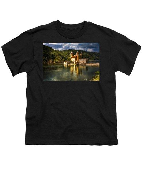 Chateau De La Roche Youth T-Shirt by Debra and Dave Vanderlaan