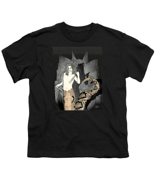 Gorgon Medusa  Youth T-Shirt by Quim Abella