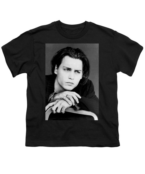Johnny Depp Youth T-Shirt by Karon Melillo DeVega