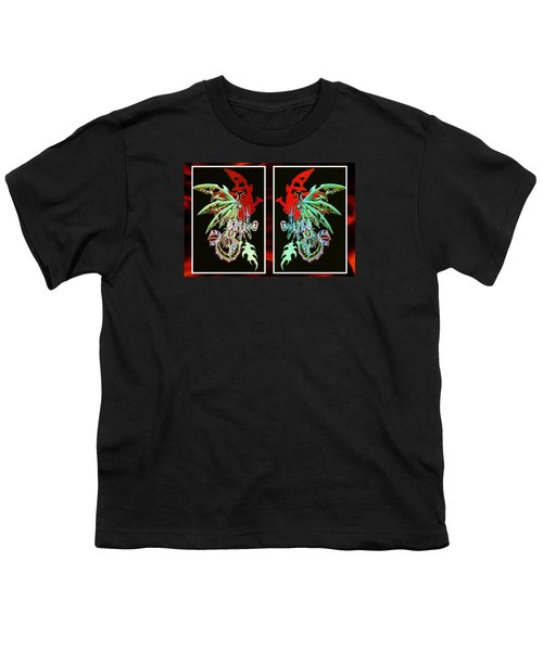 Mech Dragons Pastel Youth T-Shirt by Shawn Dall