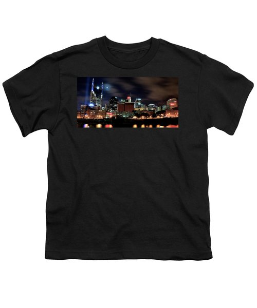 Nashville Panoramic View Youth T-Shirt by Frozen in Time Fine Art Photography