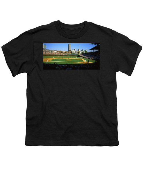 Spectators In A Stadium, Wrigley Field Youth T-Shirt by Panoramic Images