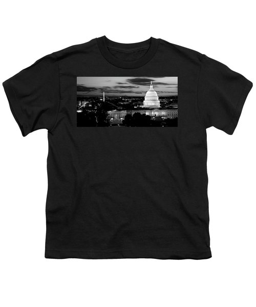 High Angle View Of A City Lit Youth T-Shirt by Panoramic Images