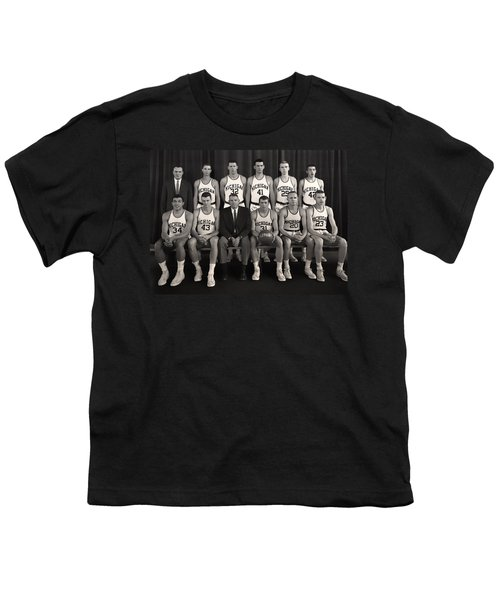 1960 University Of Michigan Basketball Team Photo Youth T-Shirt by Mountain Dreams