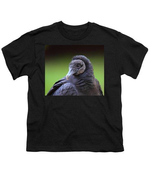 Black Vulture Portrait Youth T-Shirt by Bruce J Robinson