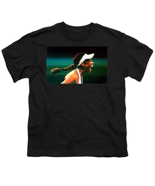 Venus Williams Youth T-Shirt by Paul Meijering