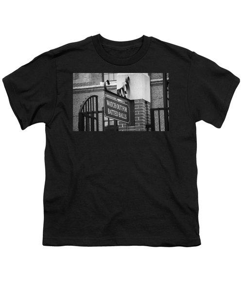 Baseball Warning Youth T-Shirt by Frank Romeo