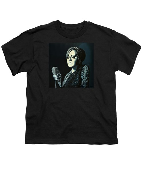 Adele Skyfall Painting Youth T-Shirt by Paul Meijering