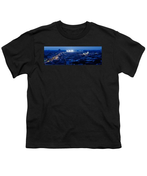 Aerial View Of A City, Wrigley Field Youth T-Shirt by Panoramic Images