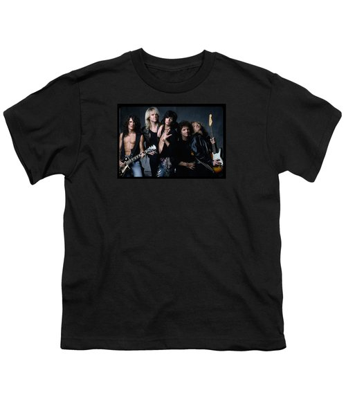 Aerosmith - Let The Music Do The Talking 1980s Youth T-Shirt by Epic Rights