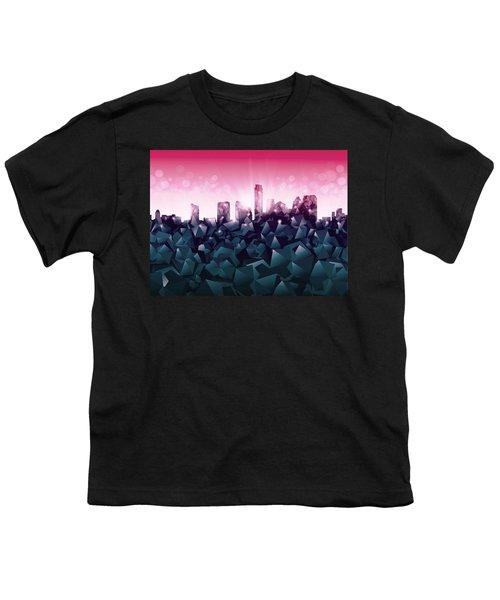 Austin Skyline Geometry 2 Youth T-Shirt by Bekim Art