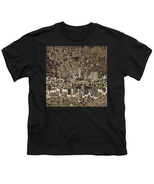 Austin Texas Skyline 5 Youth T-Shirt by Bekim Art