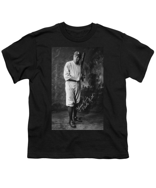 Babe 'the Sultan Of Swat' Ruth  1920 Youth T-Shirt by Daniel Hagerman