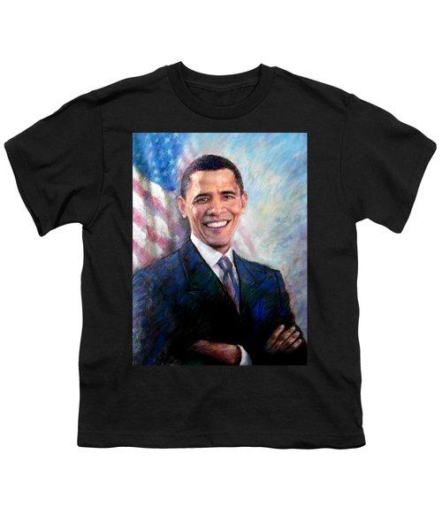 Barack Obama Youth T-Shirt by Viola El