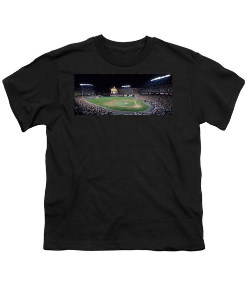 Baseball Game Camden Yards Baltimore Md Youth T-Shirt by Panoramic Images