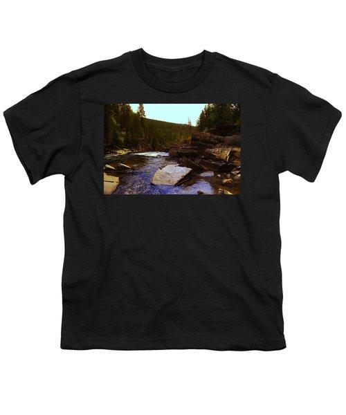 Beautiful Yak River Montana Youth T-Shirt by Jeff Swan