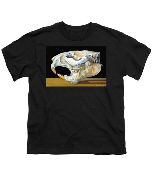 Beaver Skull 1 Youth T-Shirt by Catherine Twomey