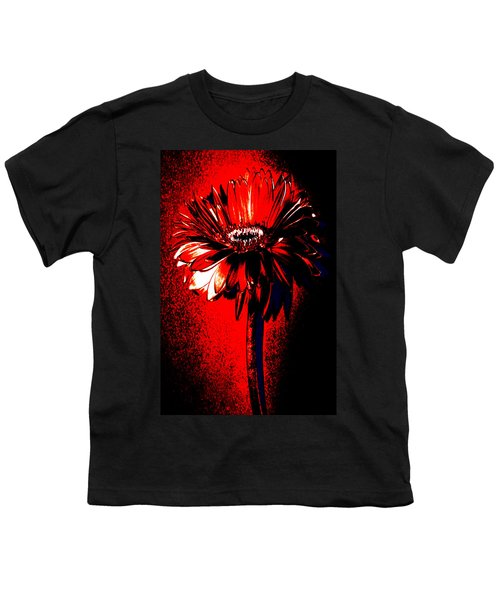 Bloody Mary Zinnia Youth T-Shirt by Sherry Allen