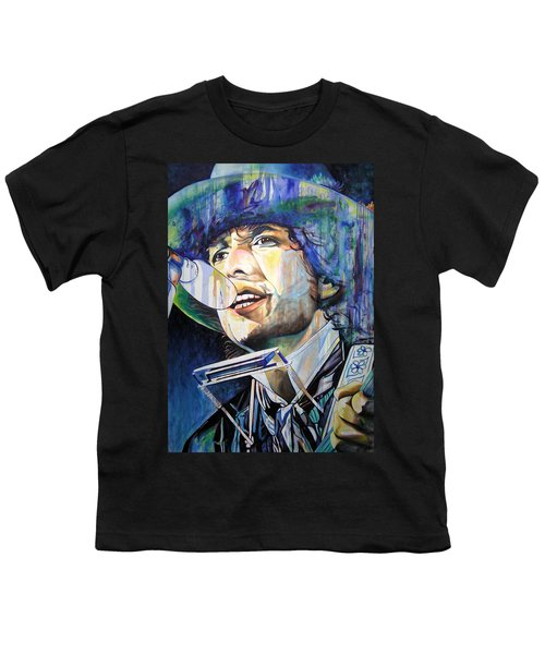 Bob Dylan Tangled Up In Blue Youth T-Shirt by Joshua Morton