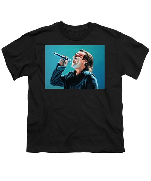 Bono Of U2 Painting Youth T-Shirt by Paul Meijering