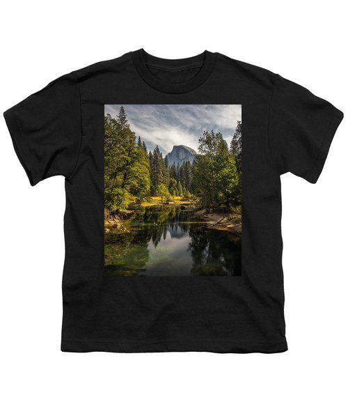 Bridge View Half Dome Youth T-Shirt by Peter Tellone