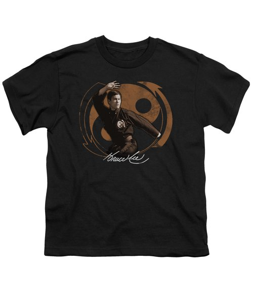 Bruce Lee - Jeet Kun Do Pose Youth T-Shirt by Brand A