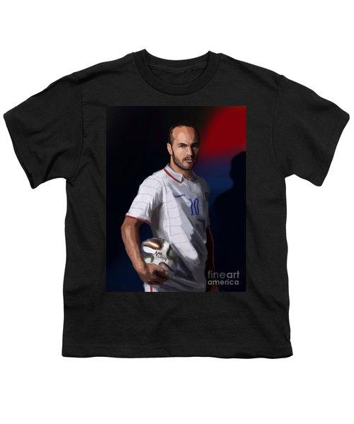 Captain America Youth T-Shirt by Jeremy Nash