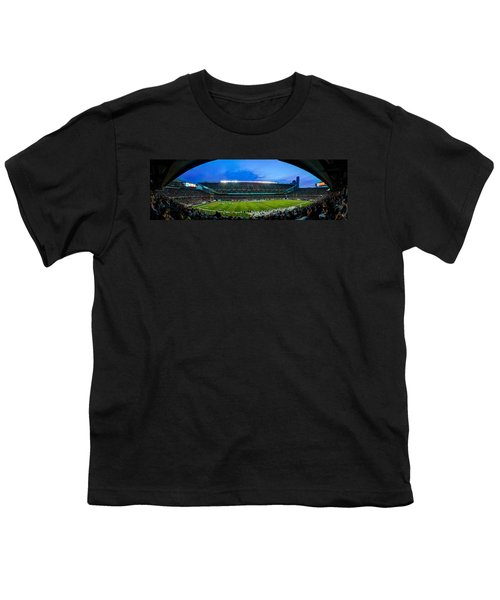 Chicago Bears At Soldier Field Youth T-Shirt by Steve Gadomski