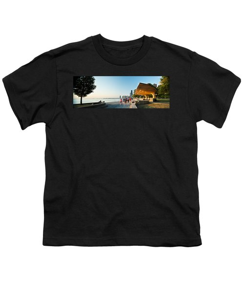 Chicago Lakefront Panorama Youth T-Shirt by Steve Gadomski