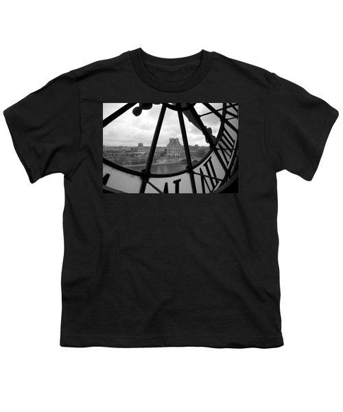 Clock At Musee D'orsay Youth T-Shirt by Chevy Fleet