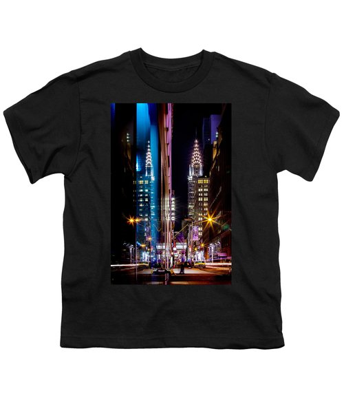 Color Of Manhattan Youth T-Shirt by Az Jackson