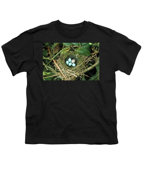 Common Cuckoo Cuculus Canorus Egg Laid Youth T-Shirt by Jean Hall