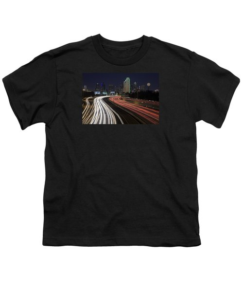 Dallas Night Youth T-Shirt by Rick Berk