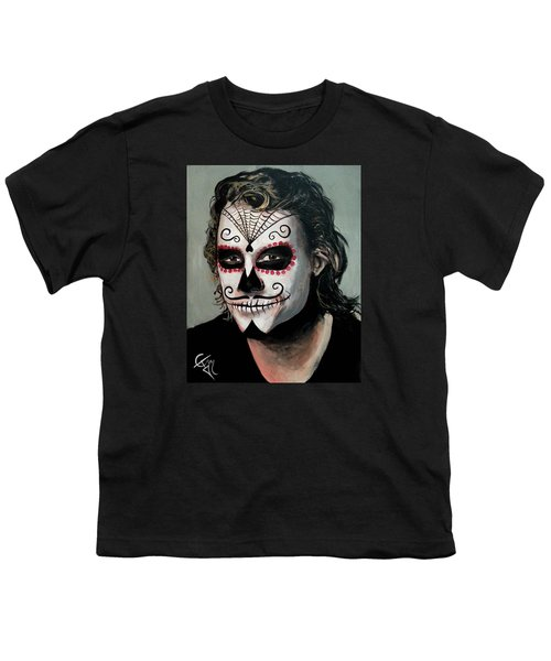 Day Of The Dead - Heath Ledger Youth T-Shirt by Tom Carlton