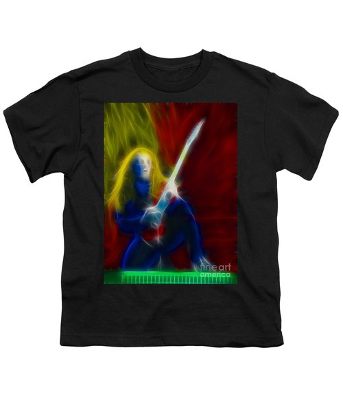Def Leppard-adrenalize-ga5-vivian-fractal Youth T-Shirt by Gary Gingrich Galleries