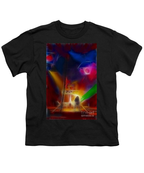 Def Leppard-adrenalize-gf10-fractal Youth T-Shirt by Gary Gingrich Galleries